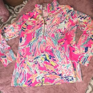 Lilly Pulitzer Quarter- Zip Sweatshirt- Size S